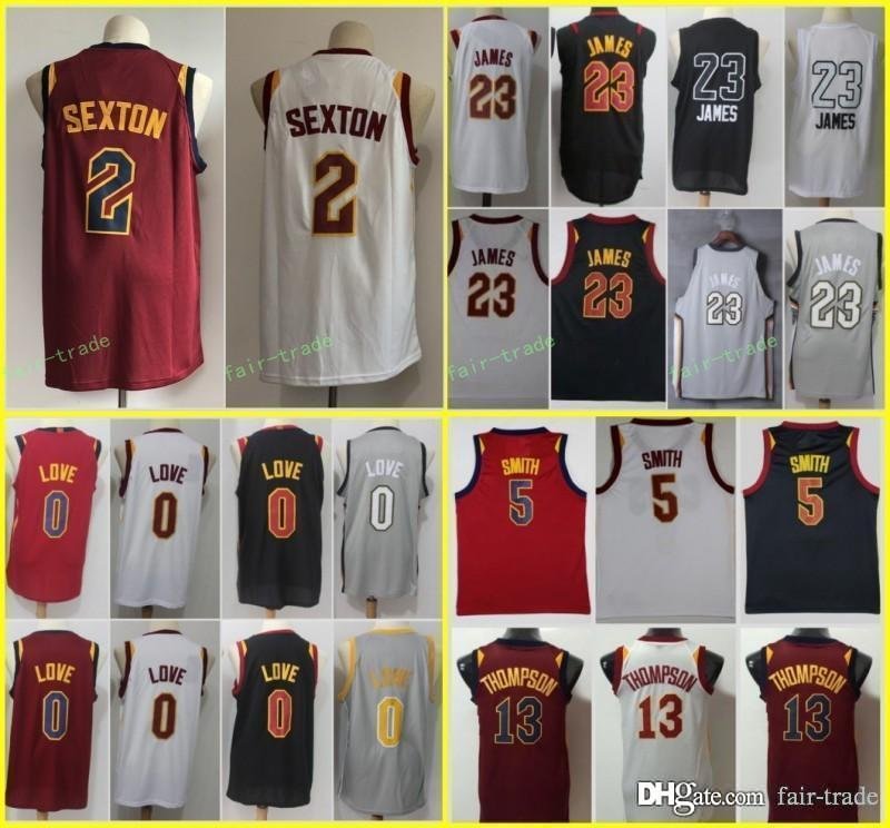 2018 New Cleveland 2 Collin Sexton 23 LeBron James Jersey Cavaliers ... f27dff8d8