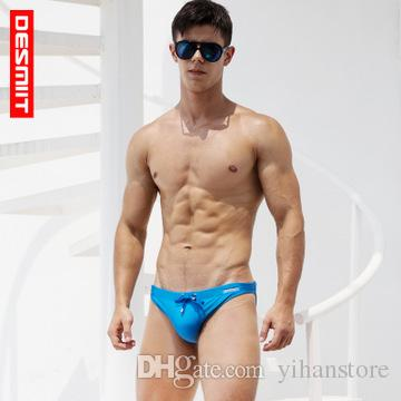 c135e4a3de 2019 Desmiit Mens Swim Briefs Gay Mens Swimwear Low Rise Bikini Swimsuit  Bathing Suit Swimming Trunk Shorts Zwembroek Man S301 From Yihanstore, ...
