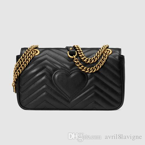 hot sell The new MARMONT wave pattern retro 2G buckle chain shoulder bags designer bags luxury cross body bag women bag