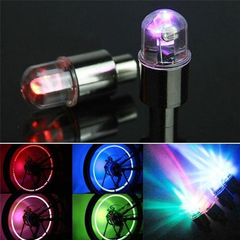 bike light Stems Caps Light Zinc alloy light-sensing bicycle With lithium battery Bike Valve Dust Cap Spoke