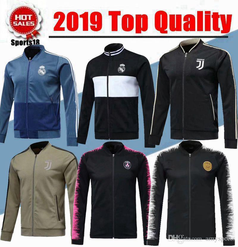 Acheter 2019 Football Madrid 2018 Real Veste De 19 18 Survêtement ArxvqA0w5