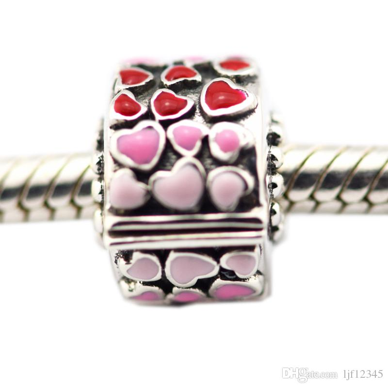 Burst of Love Clip Full Of Heart Charm lFit Original Charms bracelets for woman DIY 925 sterling silver jewelry Fashion Charm