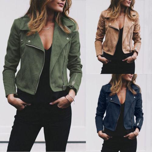 Acquista 2018 Moda Nuove Donne In Pelle Da Donna Giacche Zip Up Biker  Casual Cappotti Volo Tops Vestiti A  22.63 Dal Buttonhole  2d59e6e1982f