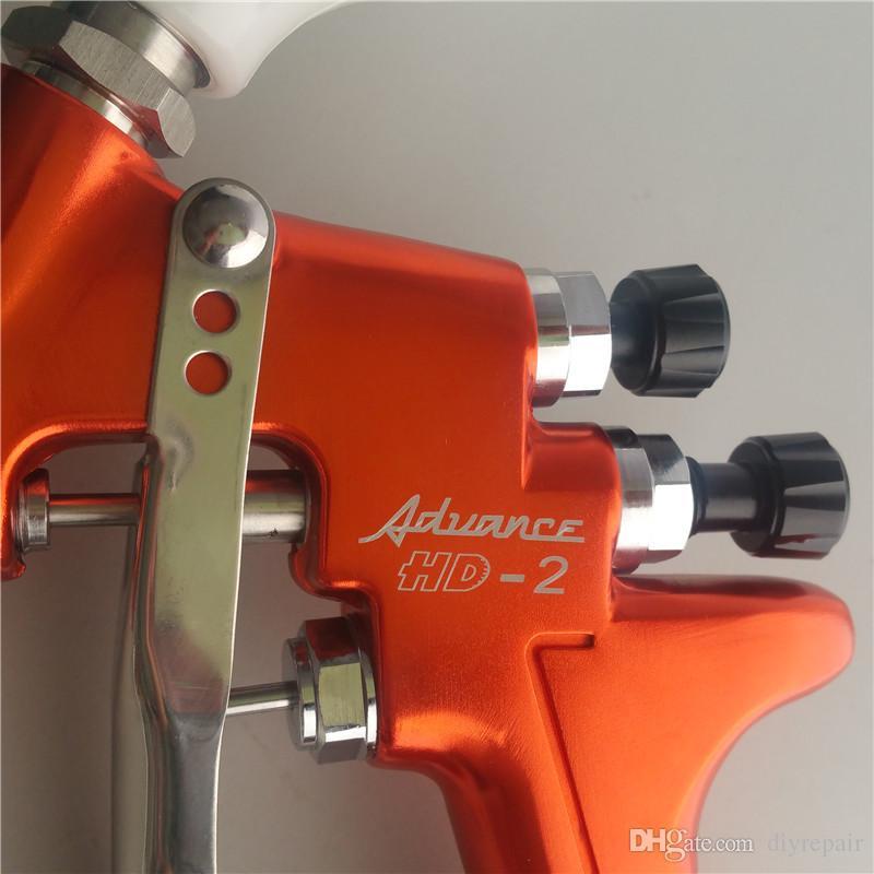 Гравитационная подача пушки брызга HD-2 HVLP Devilbiss для всех автоматических краски ,Topcoat и касания-вверх с пластичной чашкой краски 600cc