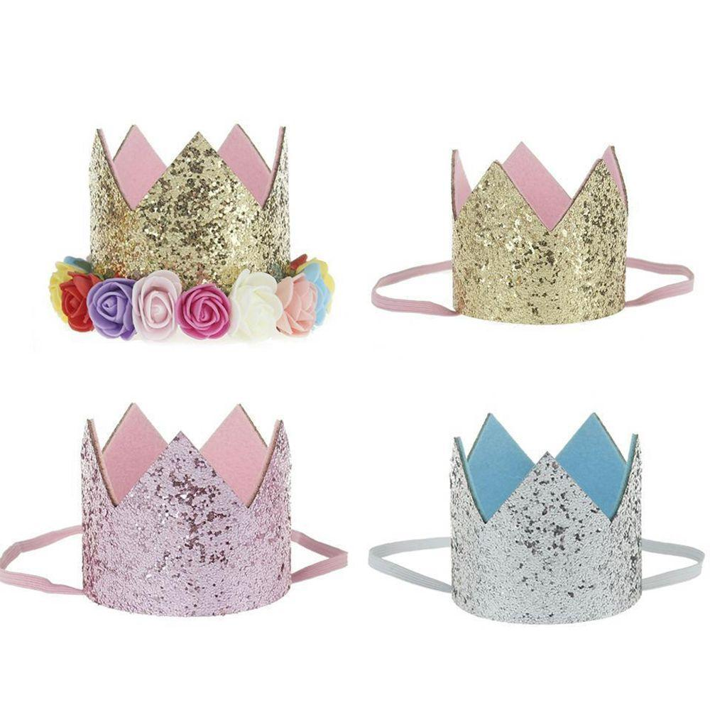 Baby Girl Birthday Party Hats Princess Crown Decorations Kids Favors Pink Headband Printable From Hymen