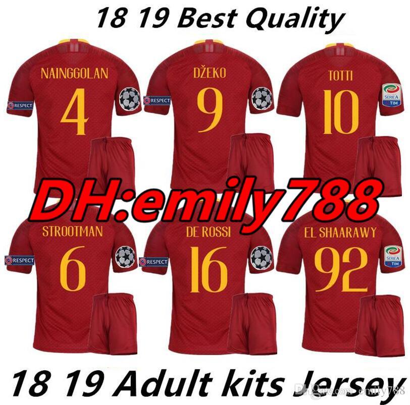 597794061ff1df 2019 2018 19 Men Rome Home Away Third Soccer Jerseys Totti Dzeko Nainggolan  Futbol Camisa As Football Camisetas Shirt Kit Maillot Roma As Roma From  Emily788 ...
