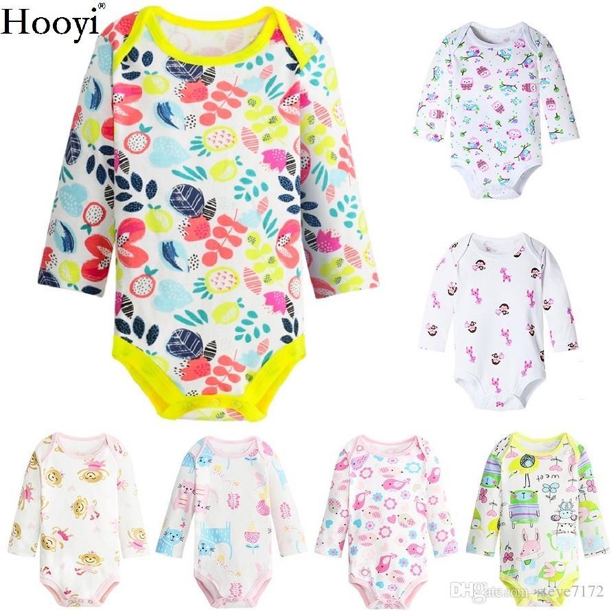 0f6b00519706 2019 Newest Newborn Bodysuit 3 6 9 12 18 24 Month Baby Girls Clothes ...
