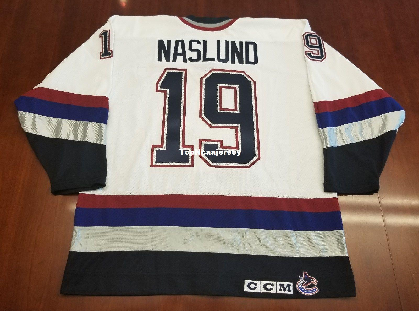 e110bcbe2 2019 Wholesale Markus Naslund Vintage Vancouver Canucks CCM Cheap Hockey  Jersey White Mens Retro Jerseys From Topncaajersey