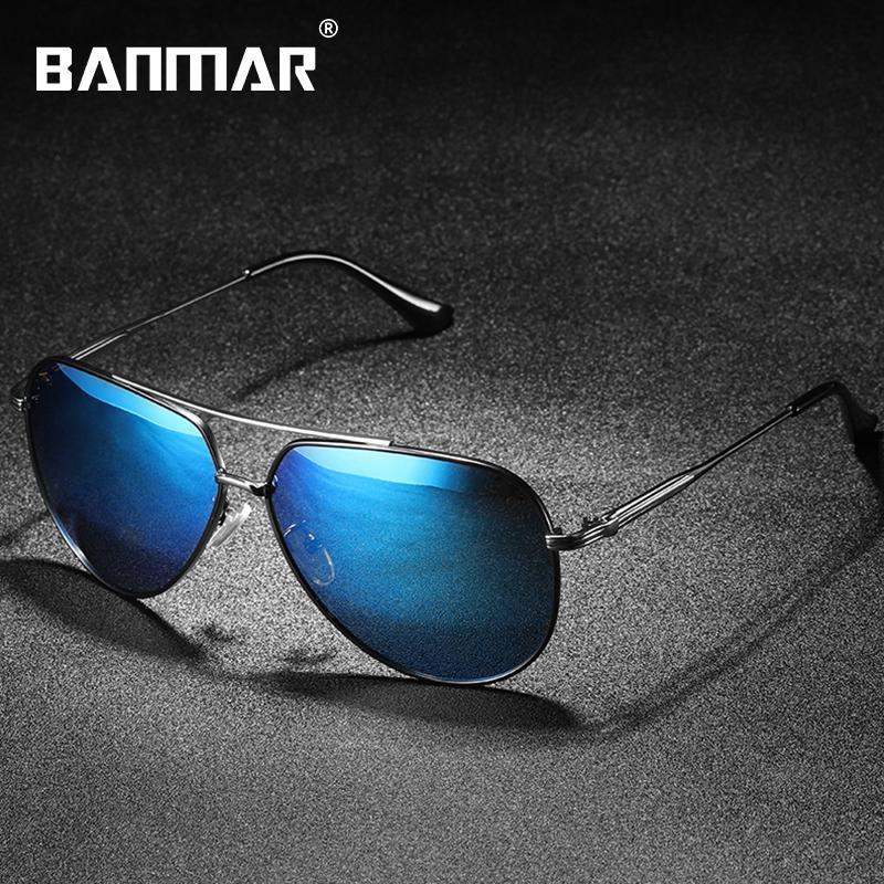 25b873cbbf Compre HD Gafas De Sol Polarizadas Hombres Diseñador De Marca Vintage  Classic Masculino Gafas De Conducción De Pesca Gafas De Sol Oculos De Viaje  0967 A ...
