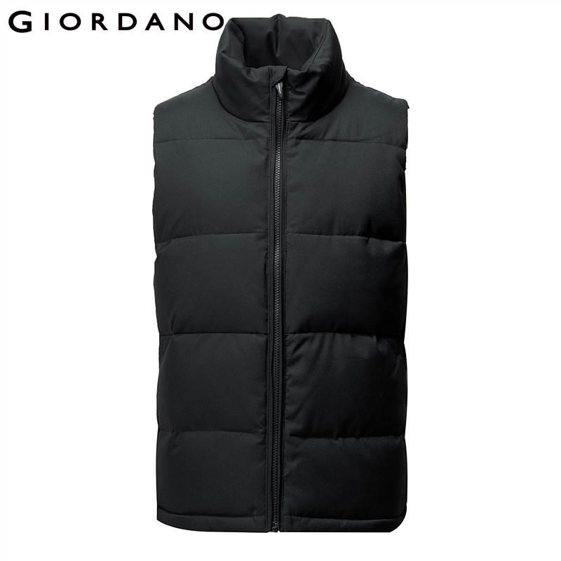 Giordano Men Vest Men Winter Jacket Solid Color Simple Stand Collar Quilted  Vest Jacket Sleeveless Chaleco Hombre Pocket Young UK 2019 From Stepheen 2ccaaf493d22