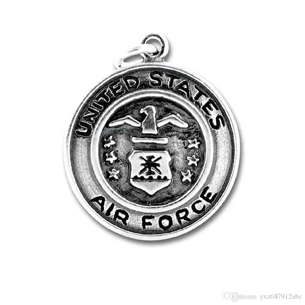 Antique Silver Fire Dept Charms Antiquité Et Armée De L'air Armée NAVY Pendentif Charme National Emblème
