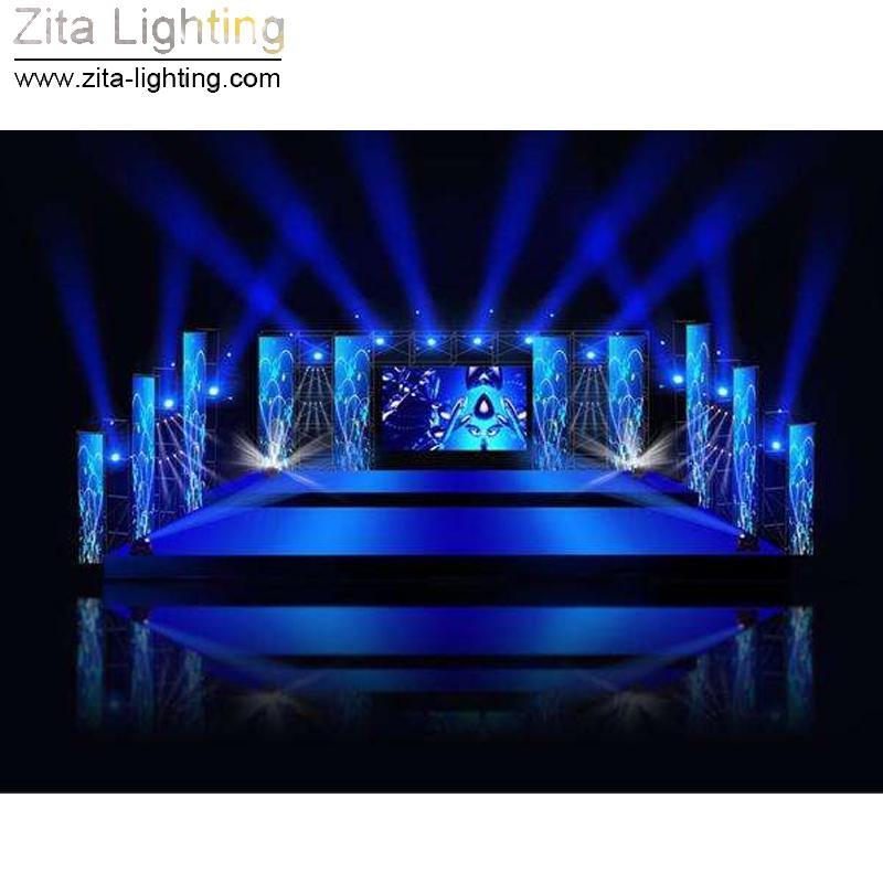 Zita Iluminação LED Moving Head Luzes Mini Dupla Face Zoom Stage Iluminação 4X10 W Lavagem 1X10 W Feixe DMX Infinito DJ Discoteca Girando Disco efeito
