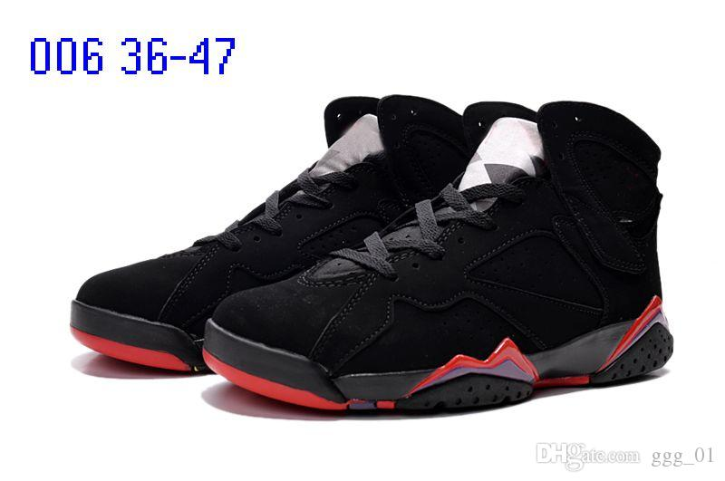 Vente chaude J7 True Flight Français Bleu VII Hommes chaussures de basket-ball sport boot Vente chaude MID Classic 7s sneaker boot pour hommes