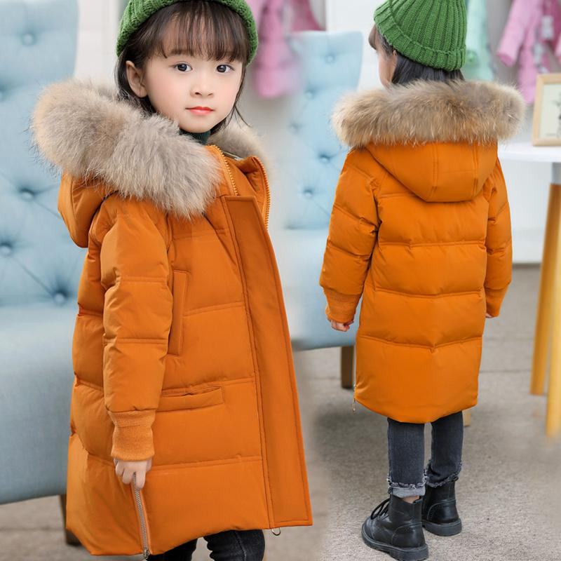 2f7033b97b26 Girl Down Jackets Winter Snow Wear Girl S Down Coat Large Fur ...