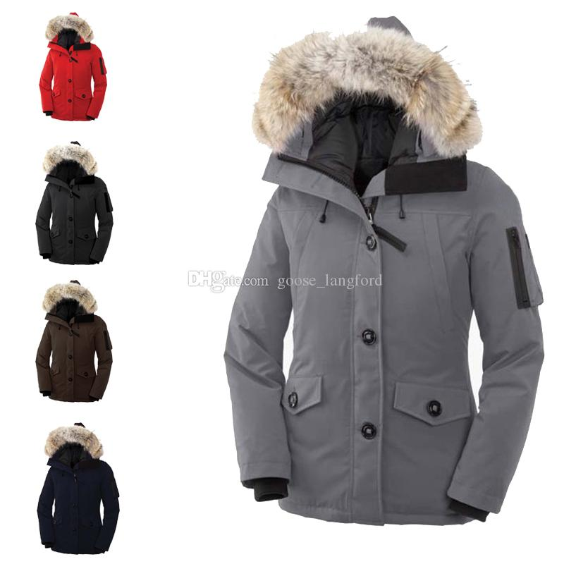 c3a7ed9a06ec 2019 2018 Winter Montebello Parka Jacket Women Large Real Raccoon Fur  Collar White Duck Down Long Parkas Coat Female Hooded Pockets Snow Outwear  From ...