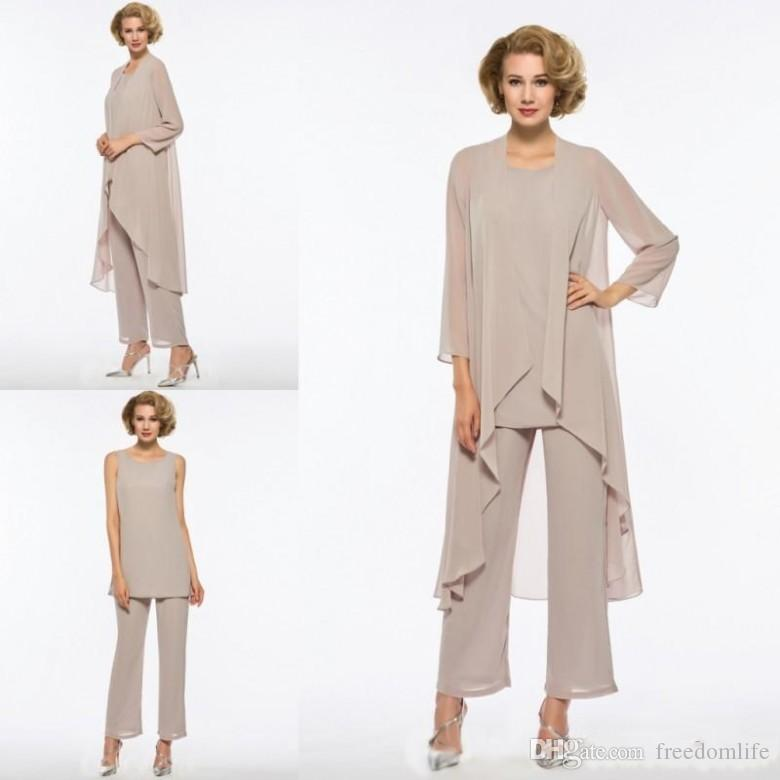 728eebe99e8c Formal Mother Of The Bride Pant Suit Chiffon Custom Made Mother Off Groom  Dress Long Sleeves Cheap Joan Joan Rivers Joan Rivers On From Freedomlife