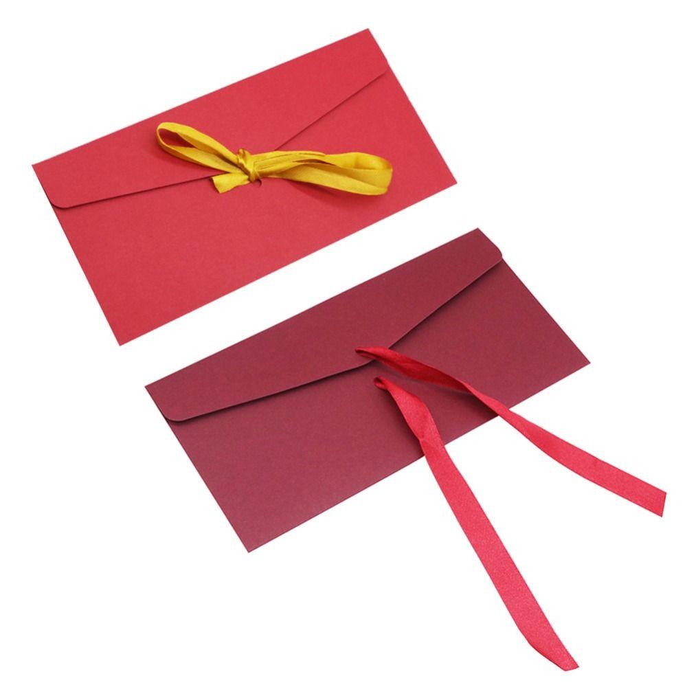 Ribbon Gift Envelope 22*11cm Fine Invitation Office School Supplies ...