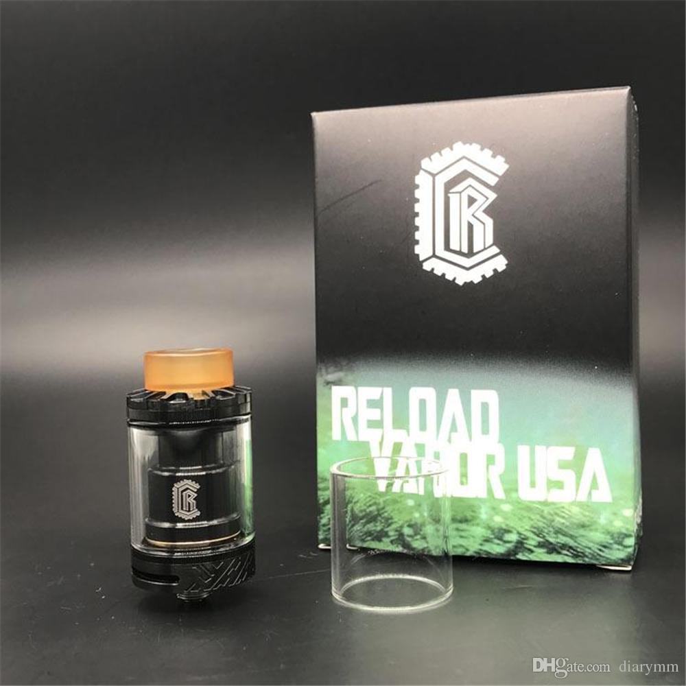 USA RELOAD VAPOR Reload RTA Serbatoio clone diametro 24mm con design Deck senza montante Sistema di riempimento Top fit 510 Vape Mods DHL gratis