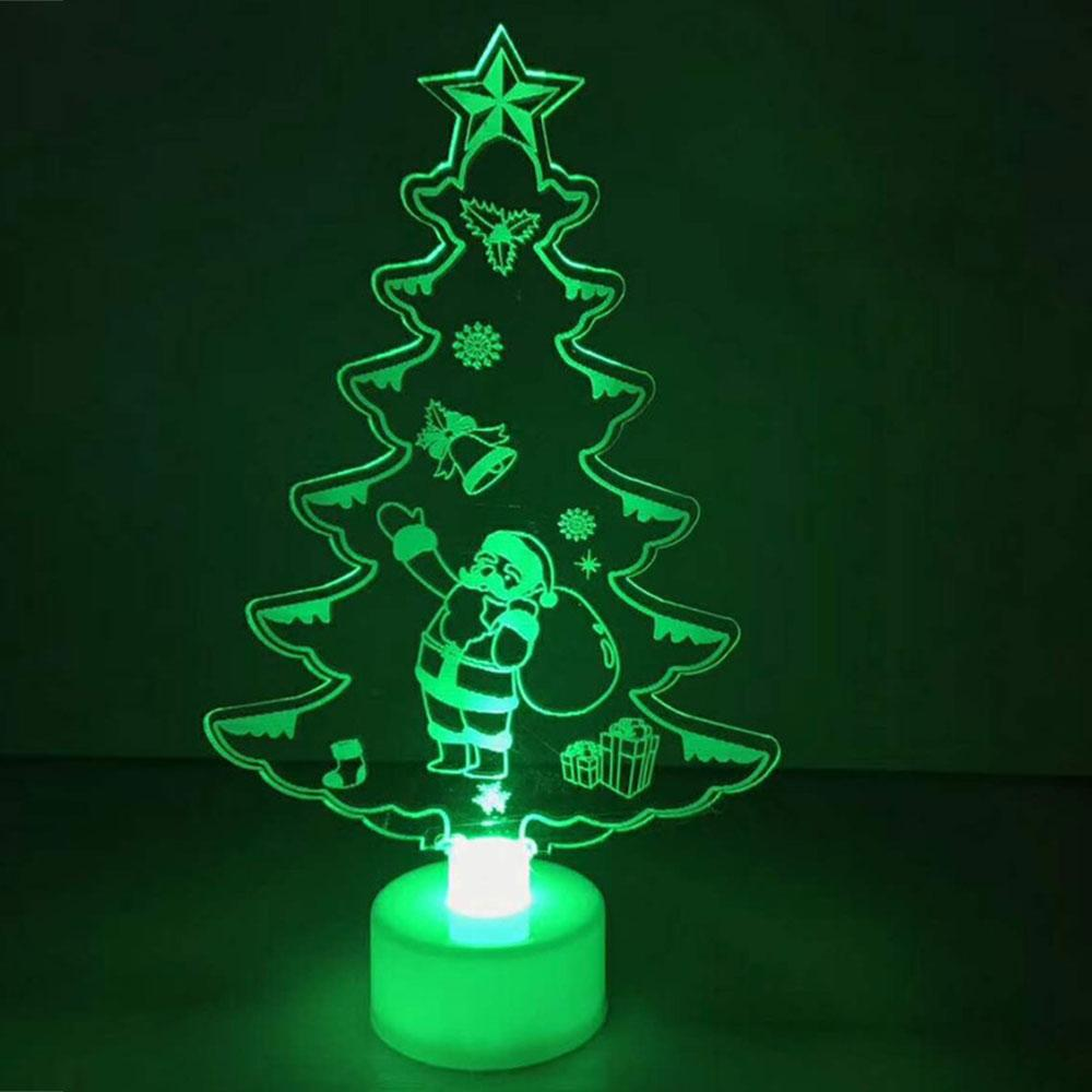 Acrylic White Color Changing Xmas Tree Led Christmas Tree Night Light Lamp Ornaments New Year Table Decor Perfect Present