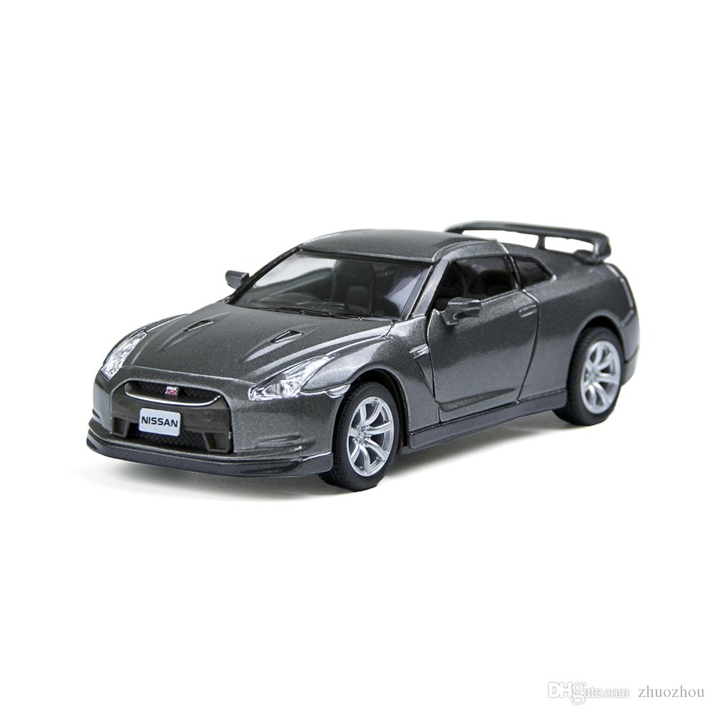 Kinsmart 1/36 GTR R35 Gray 2 Open Door Sport Car Alloy Metal Racing Vehicle  Diecast Metal Pull Back Car Sport Cars Toy For Gift Collection GTR Sport Car  ...
