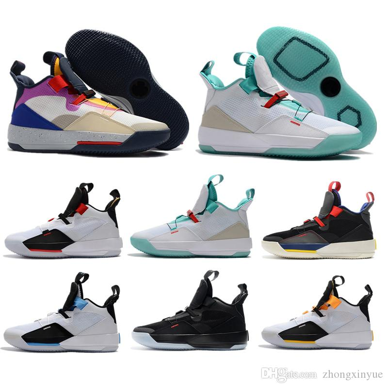 bd31708bdce6ad Jumpman 33 XXXIII Future Of Flight Guo Ailun Tech Pack Man Shoes 33s White  Metallic Gold Black Vast Grey Safety Shoes Men Casual Shoes East Bay Shoes  Shoes ...