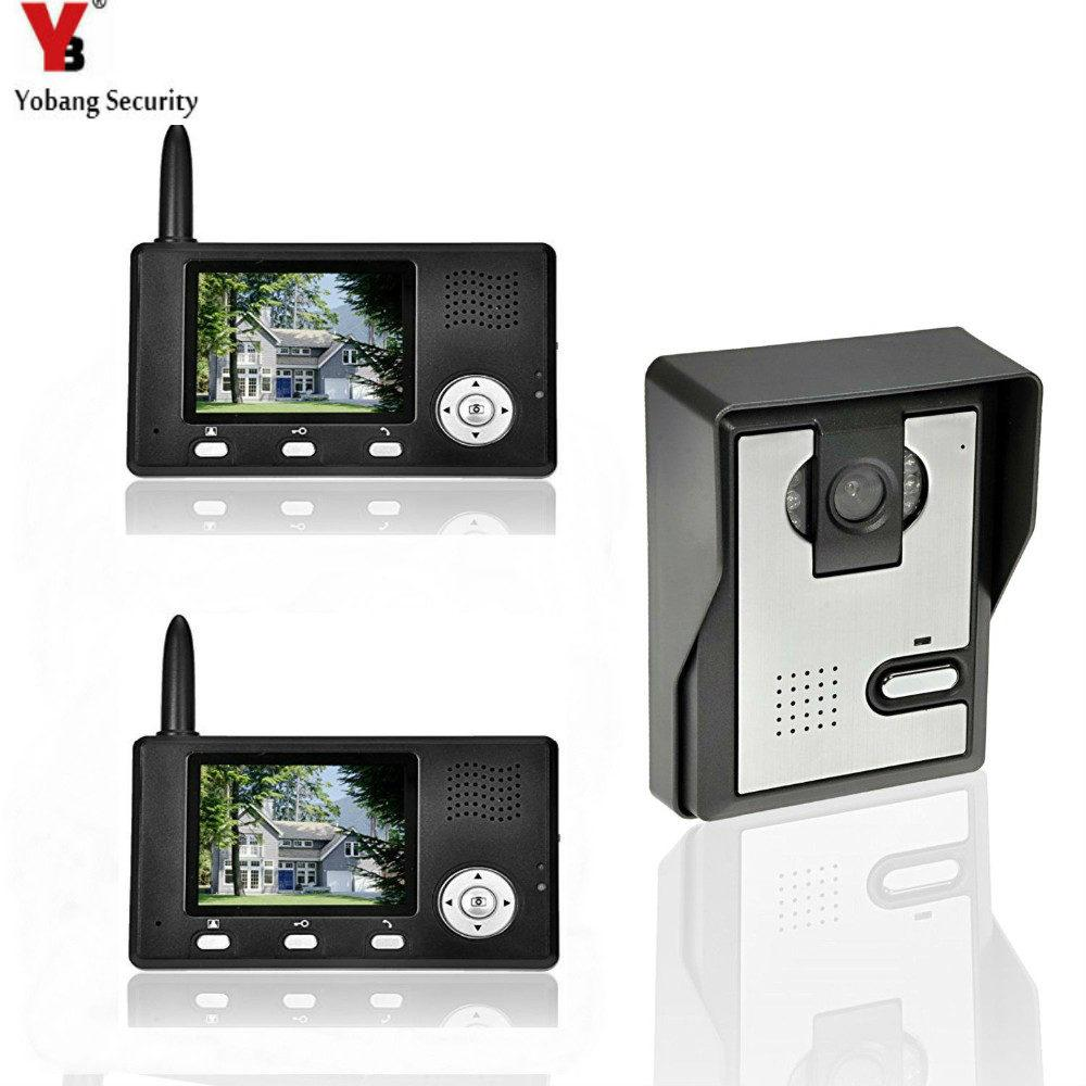 Yobangsecurity 24g 35lcd Wireless Video Door Phone Doorbell Video