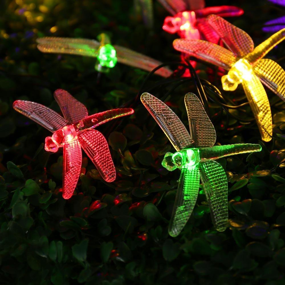 4.8M 20LED Dragonfly / Elk / Christmas Tree / Clover LED String Light Fairy Holiday Light Wedding Party Decor Lamp Waterproof P22