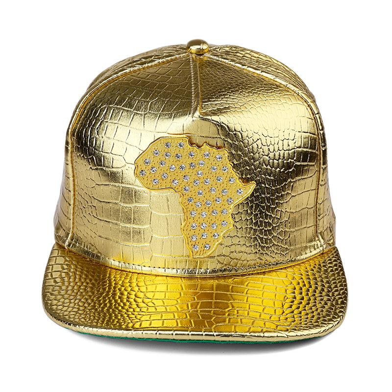 328f70df4b5 New Style PU Leather Map Of African Baseball Caps Men Wome Diamond Gold  Snapback Hat Crocodile Grain DJ Hip Hop Hats Newsboy Cap Trucker Hat From  Yjunyon