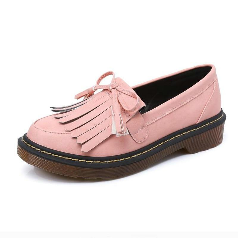 3717967cb70 New Women Loafers Candy Color Casual Platform Black Colors Loafer Shoes  Autumn Comfort Women Flat Platform Shoes Loafers For Men Red Shoes From  Faaa