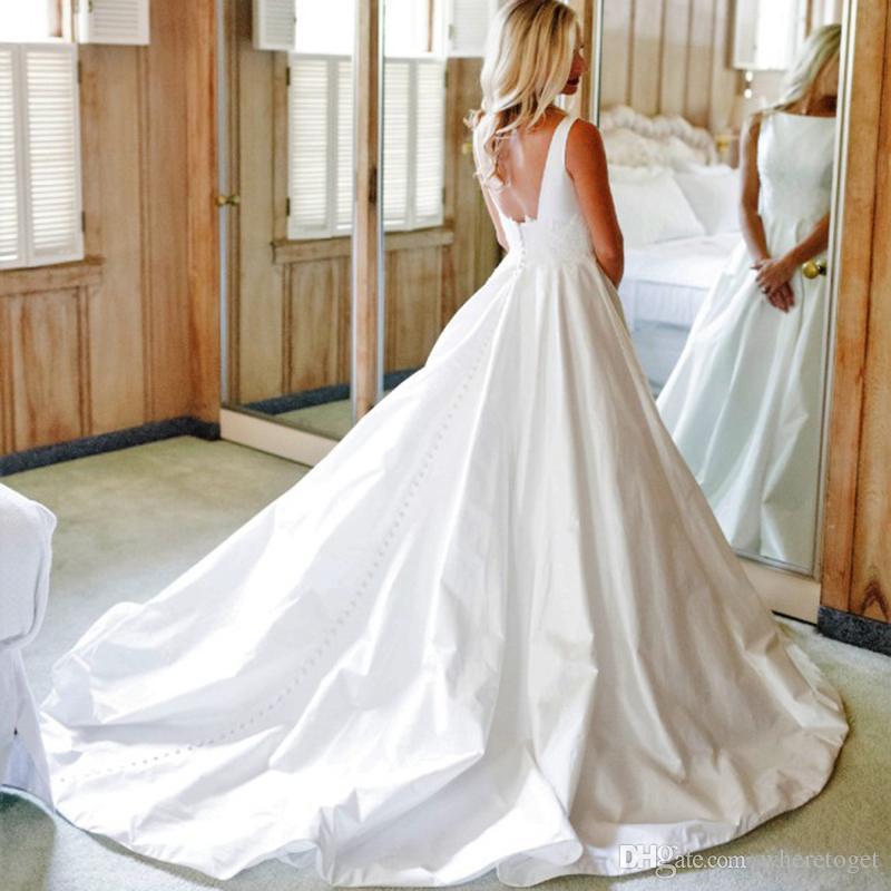 Discount Unique Design Princess A Line Taffeta Wedding