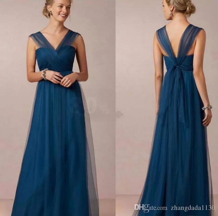 dea7e4822ce Annabelle Jenny Yoo Teal Country Bridesmaid Dresses 2018 Mismatched Column  Tulle Alternative Convertible Long Bridal Bridesmaids Gown After Six  Bridesmaid ...