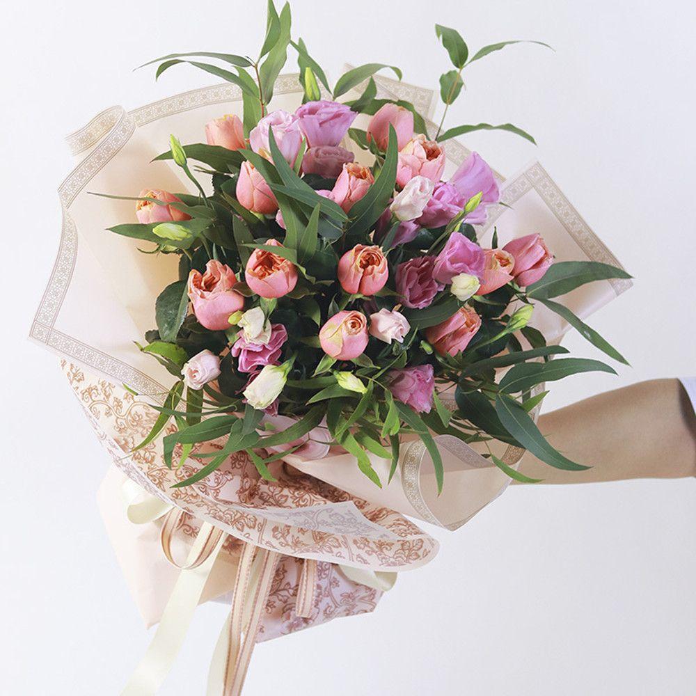 Vintage Waterproof Flower Wrapping Paper Florist Bouquet Packaging Supplies Flower Shop Material 60*60 cm