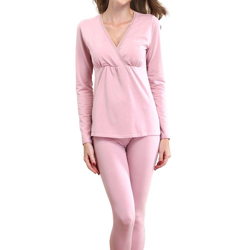 Maternity Pajama Set Nursing Breastfeeding Nightwear Pregnancy ...