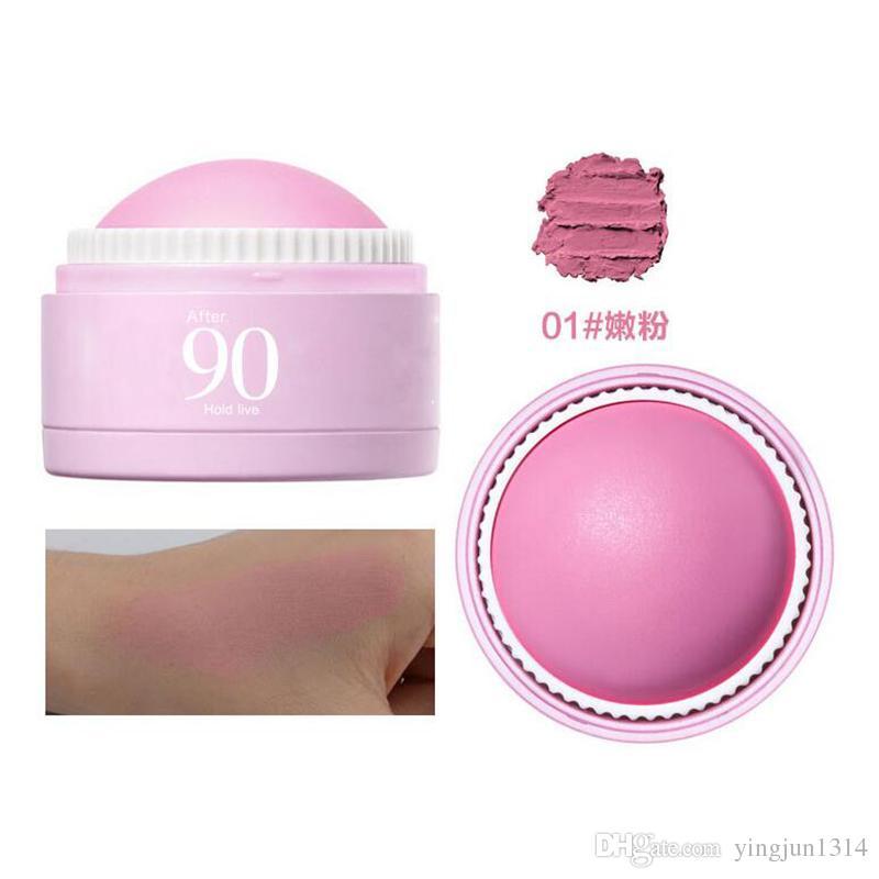 3 Farben Gesicht Rouge Ball Soft Moisturizing Cream Blush Make-up Soft Silky Bronzer Süße Glow Cheeks einen natürlichen Look