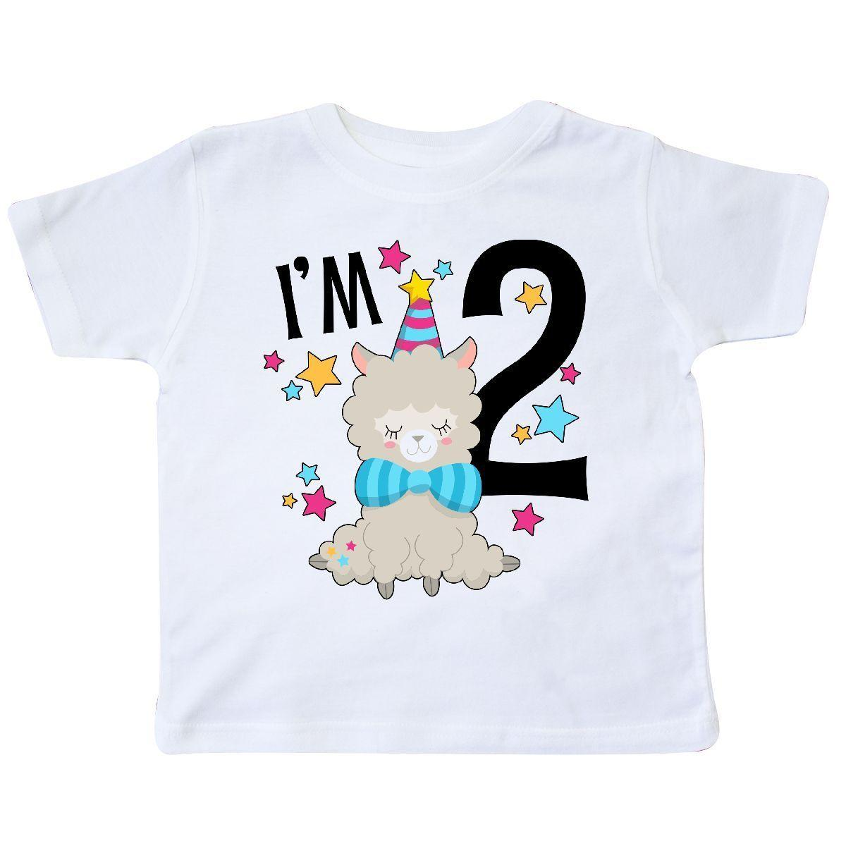 Inktastic IM Two Cute Llama Second Birthday Toddler T Shirt Birthdays 2nd 2 Funny Unisex Casual Tee Gift Cool Designs Quotes From Spirit