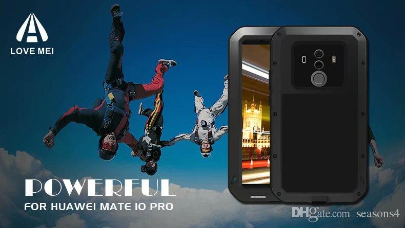 the best attitude 2bfcd d38fe Extreme Powerful Waterproof Case For Huawei Mate 10 Pro Original brand  Aluminum Metal Gorilla Glass Shock Drop cover case for huawei mate 10