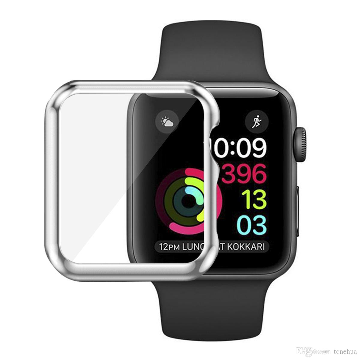 38MM 42MM Watch Screen Case Perfect Fit PC Abrasion-Resistant Anti-Scratch Screen Protector Ultra Thin For Apple Watch iWatch