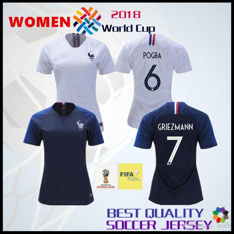 France Women Jersey Pogba Soccer Jersey 2018 World Cup 18 19 PAYET DEMBELE  MBAPPE GRIEZMANN KANTE National Team Football Shirts COMAN Shirt UK 2019  From ... b3cfb19e1