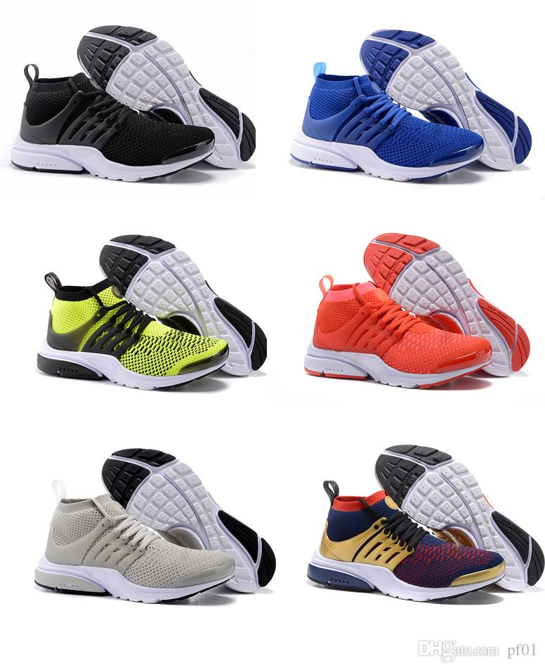2018 new Presto MID Men Women running Shoes Ultra Mid high top sports shoes mens womens sneaker outdoor black white red yellow blue 36 45