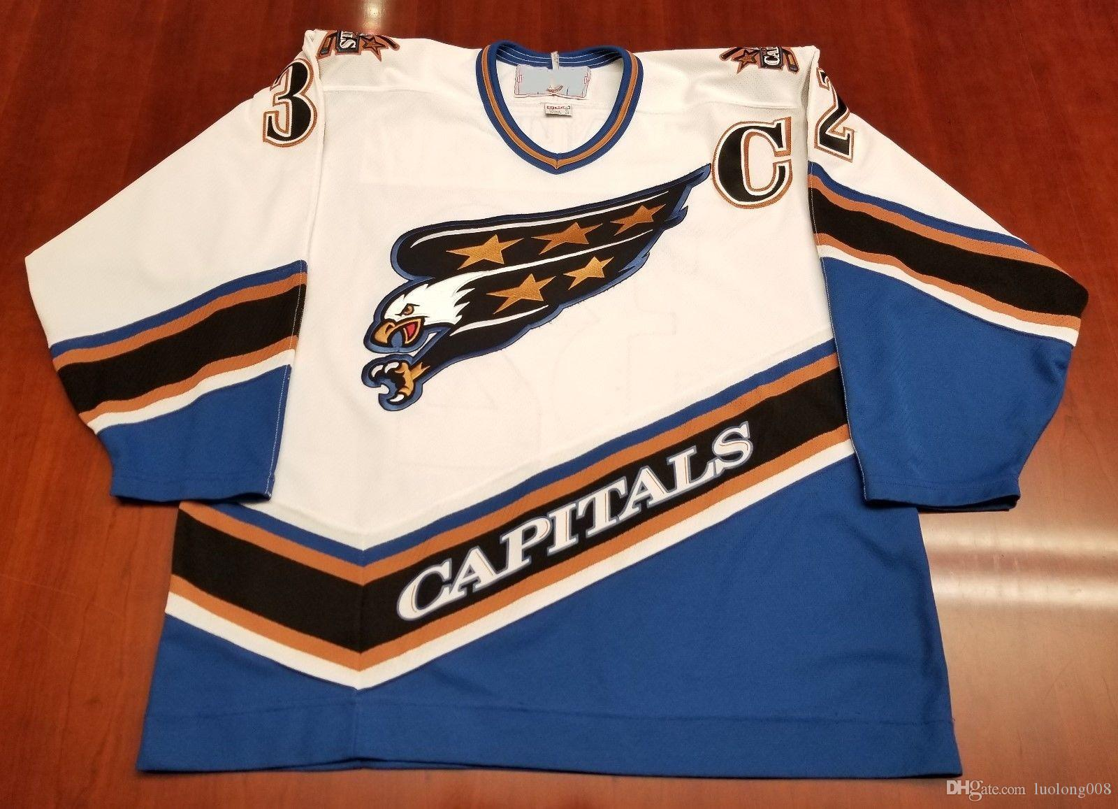 Vintage Washington Capitals Screaming Eagle  32 Dale Hunter Hockey Jersey  Embroidery Stitched Customize Any Number And Name Jerseys UK 2019 From  Luolong008 16da8f5fea9