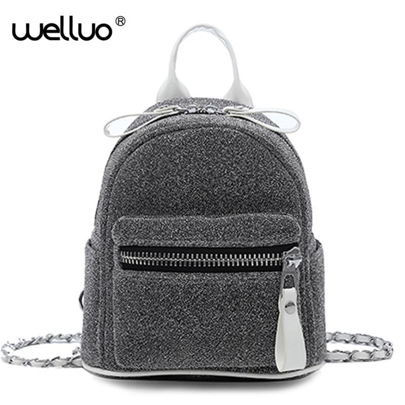 Fashion Mini Backpack Women Cute Chain Strap Shoulder Bag Small Black  Multifunction Backpack Girls Female Bags Mochila XA333WB Waterproof Backpack  Kids ... 4a3570323d