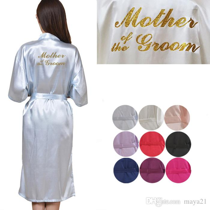 Long Mother Of The Groom Wedding Robes Gold Print Short Silk Satin Kimono  Robe Cheap Wedding Party Robes Bachelorette Party Idea Gift Wedding Cheap  Bridal ... 57c5a667c