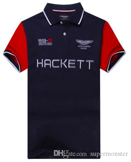 International Hackett Men Casual Polo Shirt London Brit Polos Summer ... 1e1fa133cfea2