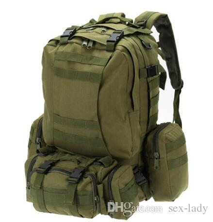 365a29d39e58 Tactical Backpack 50L Outdoor Bag Climbing Backpack Rucksack Cycling  Backpack With Webbings Sports Camping Travel Hiking Kids Bags Backpack Kid  Brands Of ...