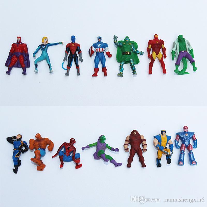The Avengers Mini Figurines Gashapon Capsule Jouets Super-héros Spiderman Capitaine De Fer Capitaine Mini-figurines Enfants Cadeaux De Noël Jouets de Torsion