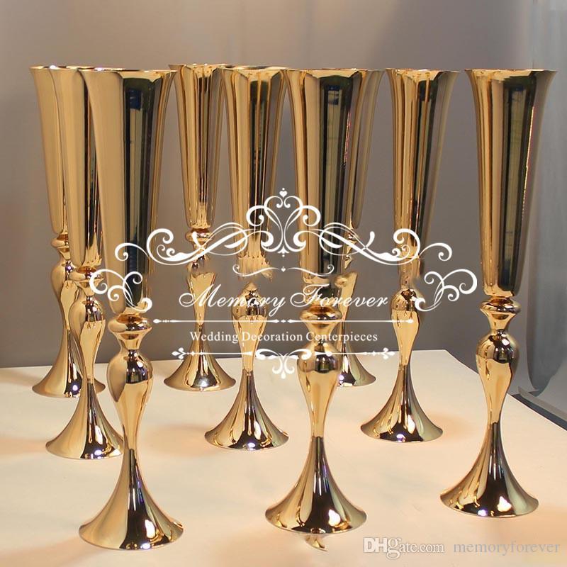 Grosshandel Hochzeitsdekoration Gold Herzstuck Vasen 75 Cm Hoch