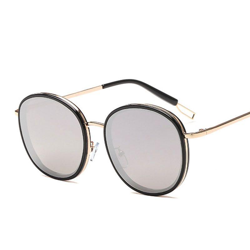 74d748ba274e Luxury Brand Designer Round Sunglasses Women Fashion New Arrival ...