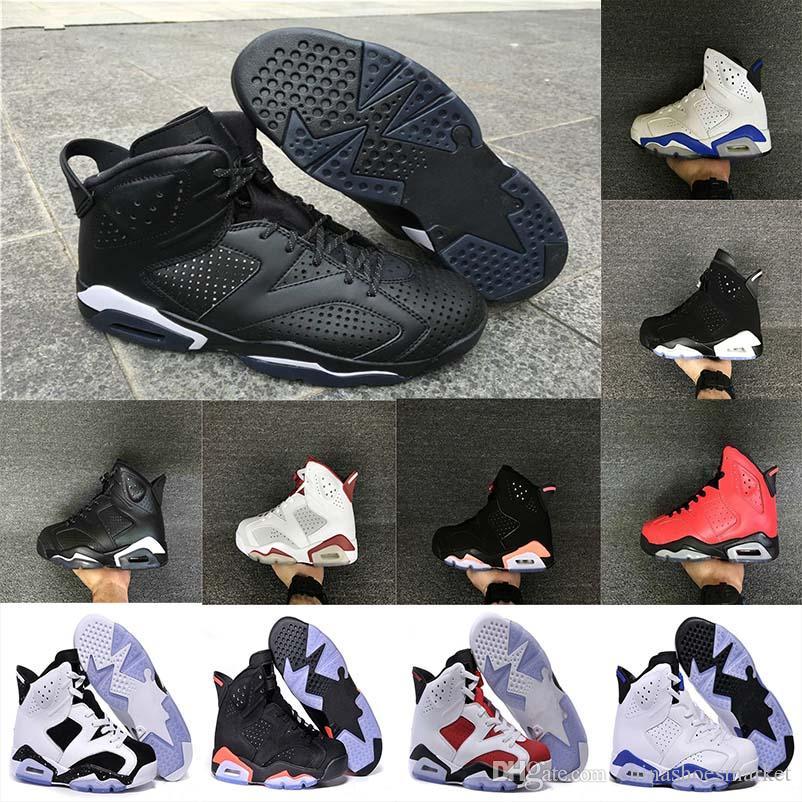 721daab5bb7ff3 Classic 6 Carmine Fashion Basketball Shoes 6s UNC Black Blue White Infrared  Low Chrome Men Sport Blue Red Oreo Alternate Oreo Black Cat Mens Loafers ...