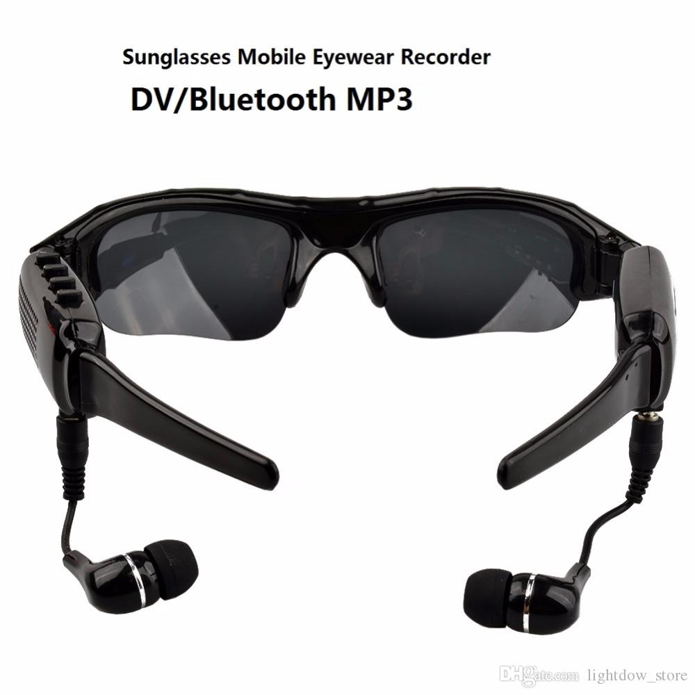 7cba0af629f 1080P HD Digital Sunglasses Mini Camera Sport Video Recorder Bluetooth MP3  Player DV DVR For Sport Driving Outdoor Bicycle Skate Camcorder Pocket  Camcorder ...