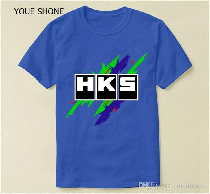 Summer Basic T Shirt Brand Car Auto HKS Print T-shirt Top Quality Man  Camisetas For Mens Casual Cotton Tees Men T-shirts Men s Tees Male Shirt  Online with ... 50ae6f63c9c